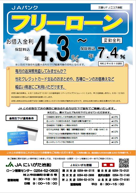 フリーローン(三菱UFJニコス保証)